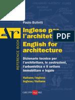 Estratto Inglese Per l'Architettura