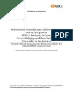 Documento Orientaciones Generales EDF910 2016