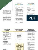 Accidente, Causas, Consecuencias y Medidas de Prevención