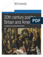 20th c British and American Poetry
