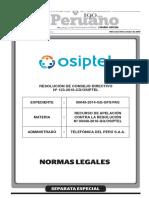 Declaran infundado el Recurso de Apelación interpuesto por Telefónica del Perú S.A.A. contra la Res. Nº 440-2016-GG/OSIPTEL y confirman multa impuesta por la comisión de infracción grave tipificada en el Reglamento General de Infracciones y Sanciones