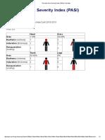 Psoriasis Area Severity Index (PASI) Calculator