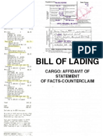 Affidavit of Statement of Facts-Counter Claim (Official)
