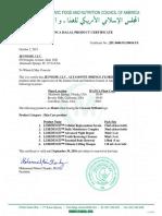 IFANCA Halal Certificates-Skin Care