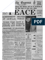 Daily Express 30 September 1938 Extracts on Peace Making Between Hitler and Chamberlain
