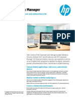 HP Classroom Manager - Data Sheet