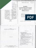 Bases Constitucionales de La Educ.arg.