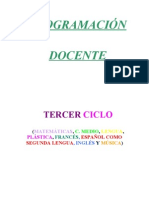 PROGRAMACIÓN DOCENTE TERCER CICLO