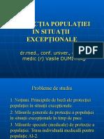 Protectia Populatie in Situatii Exceptionale