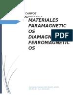 Teoria de Campos Electromagneticos II MATERIALES MAGNETICOS