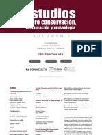 Estudios Sobre Conservacion, Restauracion y Museologia