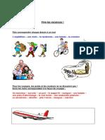Vocabulaire Vacances