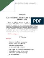 liturgia das horas de São Josemaria Escrivá