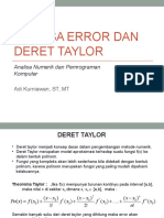 Analisa Error Dan Deret Taylor