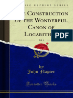 The Construction of the Wonderful Canon of Logarithms