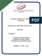 Actividad Pastoral doctrina social de la iglesia