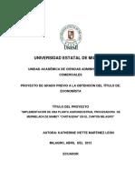 """Implementación de Una Planta Agroindustrial Procesadora de Mermelada de Mamey """"Cartagena"""" en El Cantón Milagro"""