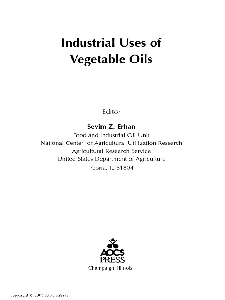 industrial uses of vegetable oil polyurethane vegetable oil