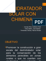 Deshidratadr Solar Con Chimena