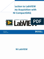 Introduction to LabVIEW and Data Acquisition With NI CompactDAQ