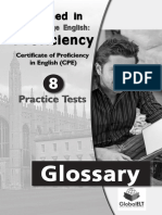 CPE English Glossary - Tests 1-8