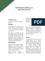Expansión Agrícola y Deforestación