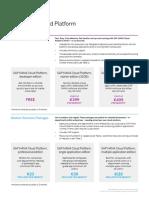SAP HANA Cloud Platform Pricing and Packaging