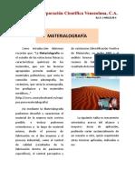 Materiologia en CCV Jun2016 Panfleto