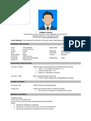 Contoh Resume Bahasa Inggeris Doc Sarawak Business