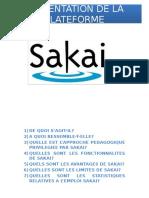 Presentation de La Plateforme Sakai