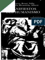 (Varios Autores) Manifiestos Del Humanismo.pdf