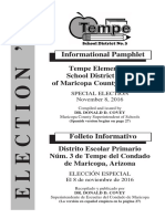 Tempe Elementary School District Bond Election Information - November 8th, 2016