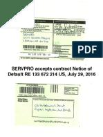 SERVPRO Accepts Registered Mail RE133672214US Default