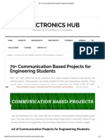 70+ Communication Based Projects for Engineering Students