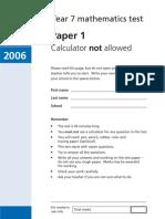 Maths Paper 1 2006