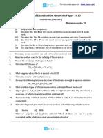 2013 class 12 Chemistry qp