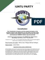 Ubuntu Party Constitution Oct 2015