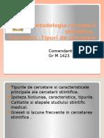 Metodologia Cercetarii Stiintifice 2