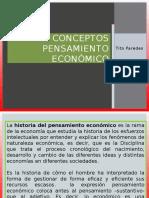 Conceptos pensamiento economico