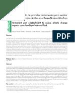 Establecimiento de parcelas permanentes para evaluar impactos del cambio climático