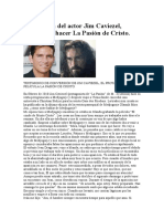 Conversión Del Actor Jim Caviezel