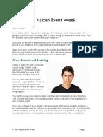 8b the Kaizen Event Week