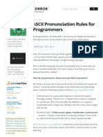 ASCII Pronunciation Rules for Programmers