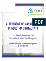 Alternative Managementul Ospitalitatii