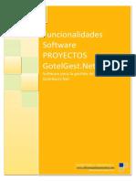 Funcionalidades Software Proyectos Gotelgestnet