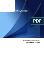 System Users Guide Dynamics GP