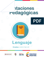 Orientaciones Pedagógicas Lenguaje Grados 3° a 11º