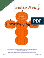 October 18, 2016 The Fellowship News