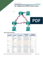 8 2 4 5 Lab Configuring Basic Single Area OSPFv2