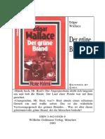 Wallace, Edgar - (1919) - Der Grüne Brand